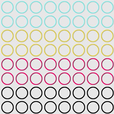 Modern Rings Coordinate fabric by joanmclemore on Spoonflower - custom fabric