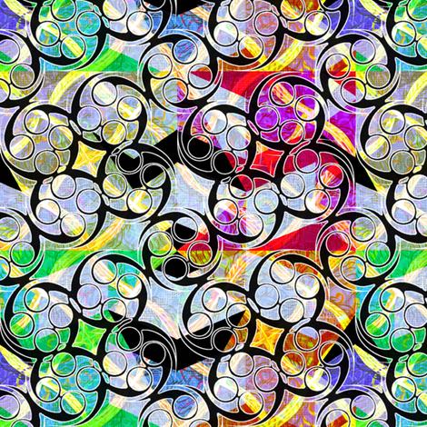 wild_diamonds_zigzag_w_black_swirls_ fabric by glimmericks on Spoonflower - custom fabric
