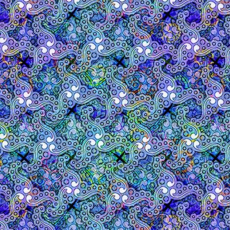 wild_diamonds_ocean_w_tripus fabric by glimmericks on Spoonflower - custom fabric