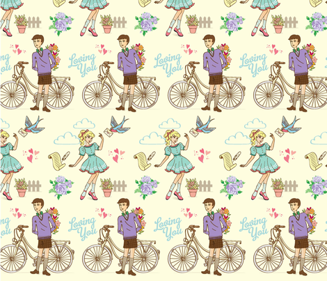 love letter 2 fabric by anyotosetiadi on Spoonflower - custom fabric