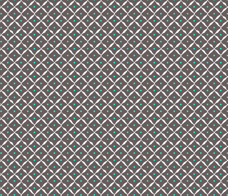 diamond dot net grey aqua fabric by katarina on Spoonflower - custom fabric