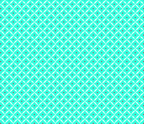 diamond dot net aqua fabric by katarina on Spoonflower - custom fabric