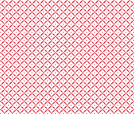 diamond dot net red fabric by katarina on Spoonflower - custom fabric
