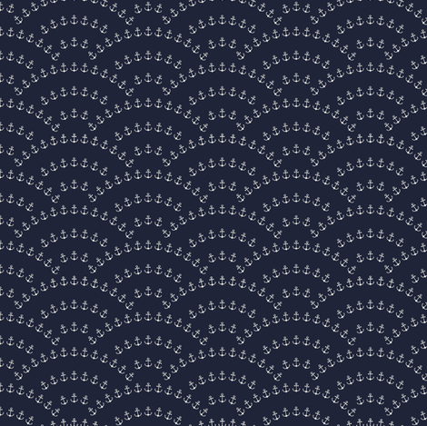Anchor Wave fabric by kimsa on Spoonflower - custom fabric