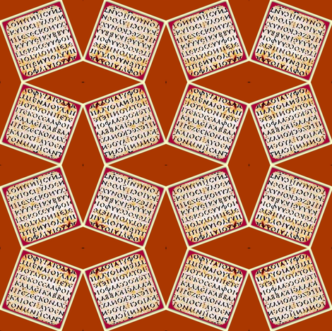 Text Tiles fabric by amyvail on Spoonflower - custom fabric