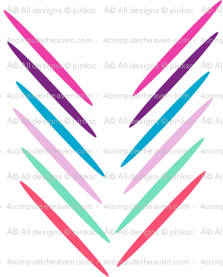 Organic Chevron Sticks Arrows (Mini) ! - Baby Butterfly Purple - © PinkSodaPop 4ComputerHeaven.com