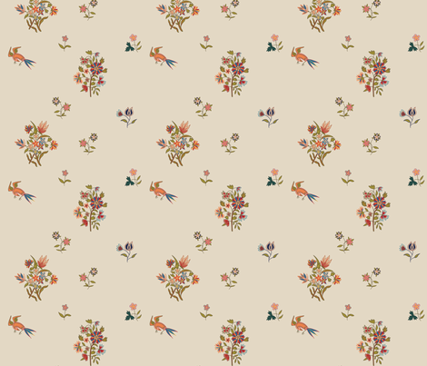 18th Century Indienne fabric by mellymellow on Spoonflower - custom fabric
