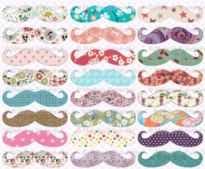 Mustaches Girly