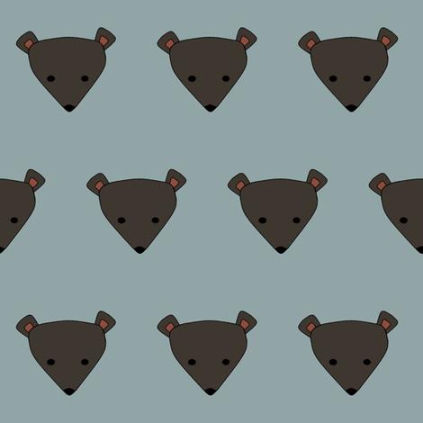 bashful bear fabric by hostetler on Spoonflower - custom fabric