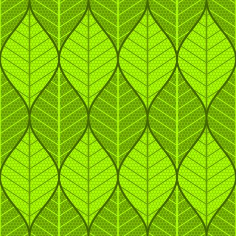 symmetric sine leaf pair fabric by sef on Spoonflower - custom fabric