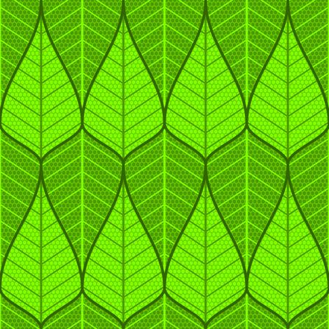 asymmetric sine leaf pair fabric by sef on Spoonflower - custom fabric