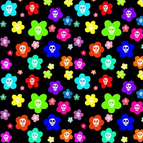 Cute scull flowers