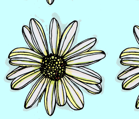 Daisy Fabric fabric by artthatmoves on Spoonflower - custom fabric