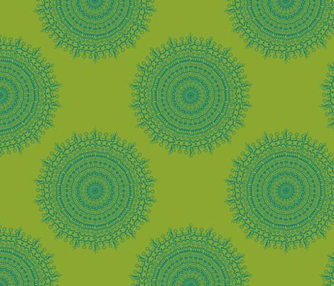 Medallion Lime fabric by littlerhodydesign on Spoonflower - custom fabric