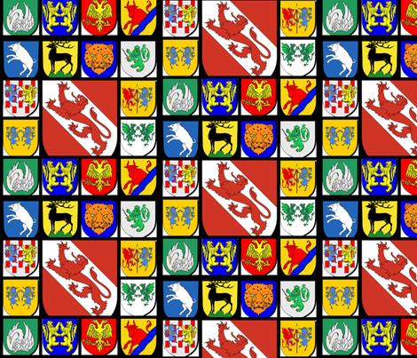 heraldry fabric by ravynscache on Spoonflower - custom fabric