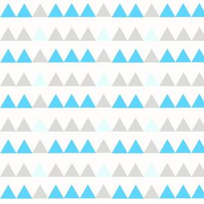 Aqua Triangles - Aqua, mint, grey