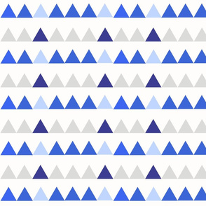 Blue and Grey Triangles