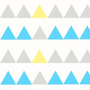 Blue, Grey, Yellow Triangles