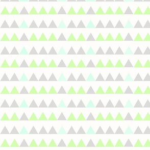 Green Triangles - Green, Mint, Grey