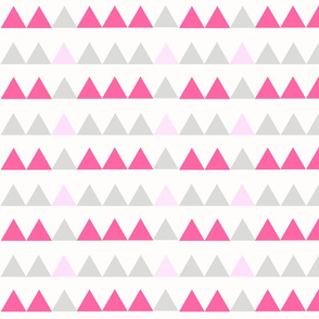 Pink and light pink triangles