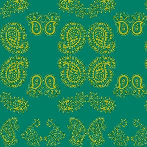 Paisley13-green/teal