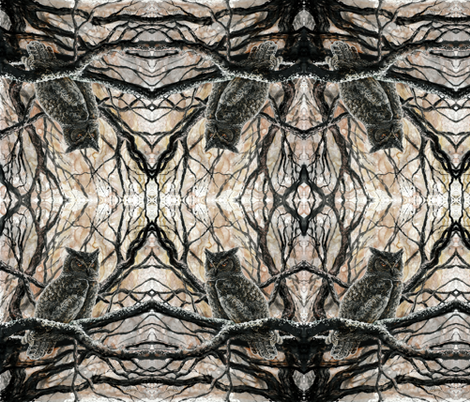 Winter Owl fabric by katemccredie on Spoonflower - custom fabric