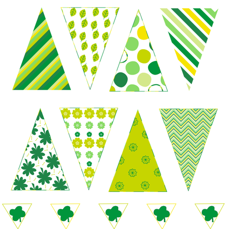Mini Bunting - St. Patrick's Day!  - © PinkSodaPop 4ComputerHeaven.com fabric by pinksodapop on Spoonflower - custom fabric