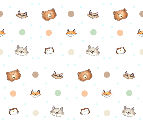 Woodland Baby fabric by georgia_dunn on Spoonflower - custom fabric