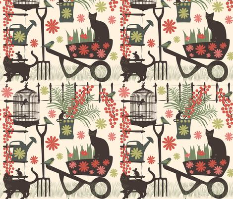 spring gardening  fabric by kociara on Spoonflower - custom fabric