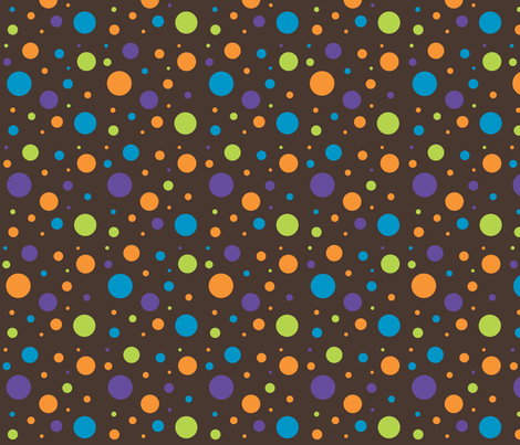 owl_mania_dots_brown fabric by noukyrox on Spoonflower - custom fabric