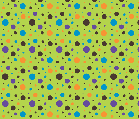 owl_mania_dots_lime fabric by noukyrox on Spoonflower - custom fabric