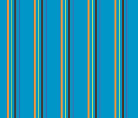 owl_mania_lines_blue fabric by noukyrox on Spoonflower - custom fabric