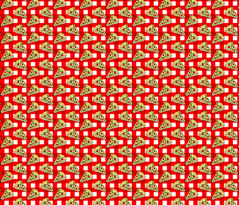 Pizza Red Check fabric by cindersonfiber on Spoonflower - custom fabric