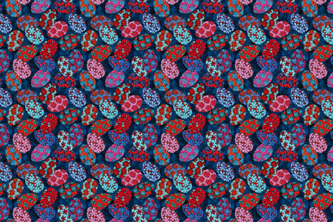 Bohemian eggs fabric by cassiopee on Spoonflower - custom fabric