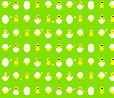 Spring chicks fabric by saskia_d on Spoonflower - custom fabric