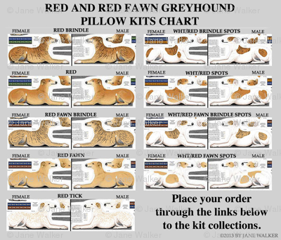 LIST OF GREYHOUND PILLOW KITS COLLECTIONS