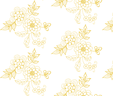 Buttercup on White fabric by hazelrose on Spoonflower - custom fabric
