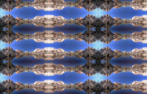 Barker Dam panorama fabric by studiogala on Spoonflower - custom fabric