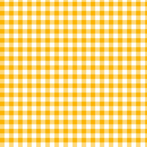 saffron gingham fabric by weavingmajor on Spoonflower - custom fabric