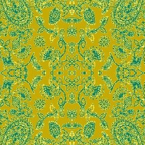 Paisley11-green/teal