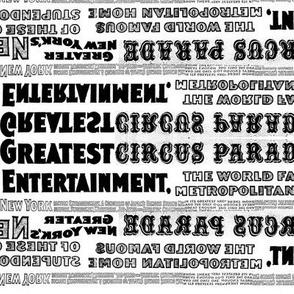 Circus Poster Stripe