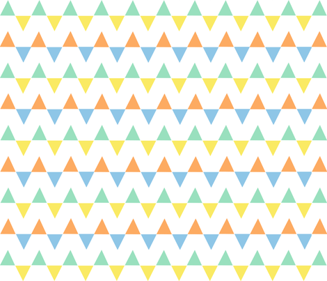 multicolor triangles fabric by anjrogers0804 on Spoonflower - custom fabric