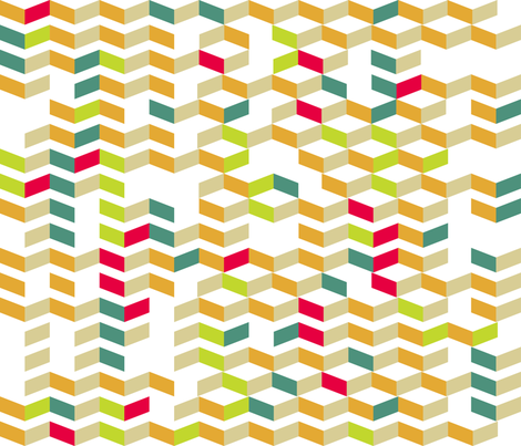Broken Chevron fabric by kfay on Spoonflower - custom fabric