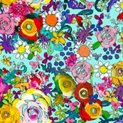 Les Fleurs // Turquoise