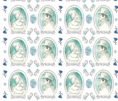 Jane Austen: Pride & Prejudice fabric by monalila on Spoonflower - custom fabric