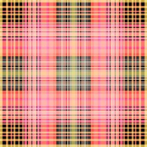 Coral Pink Plaid fabric by joanmclemore on Spoonflower - custom fabric