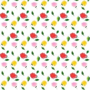Pom Pom Chrysanthemums