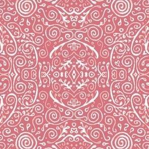 bridal mendhi - peach pink