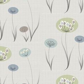 Natural Modern Flowers Leaf Texture Background
