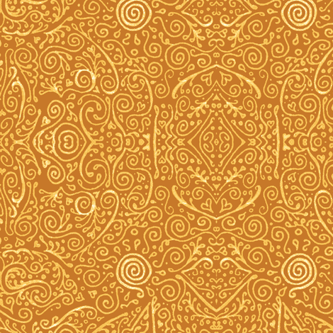 bridal mendhi - apricot fabric by weavingmajor on Spoonflower - custom fabric